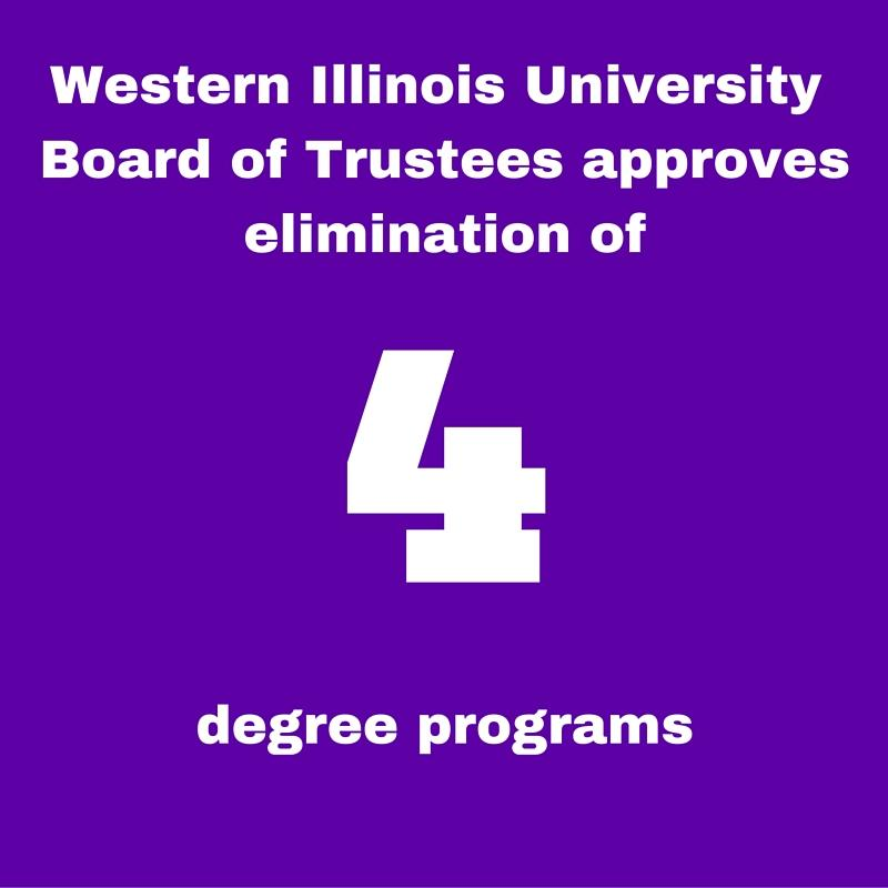 BOT approves elimination of four degree programs