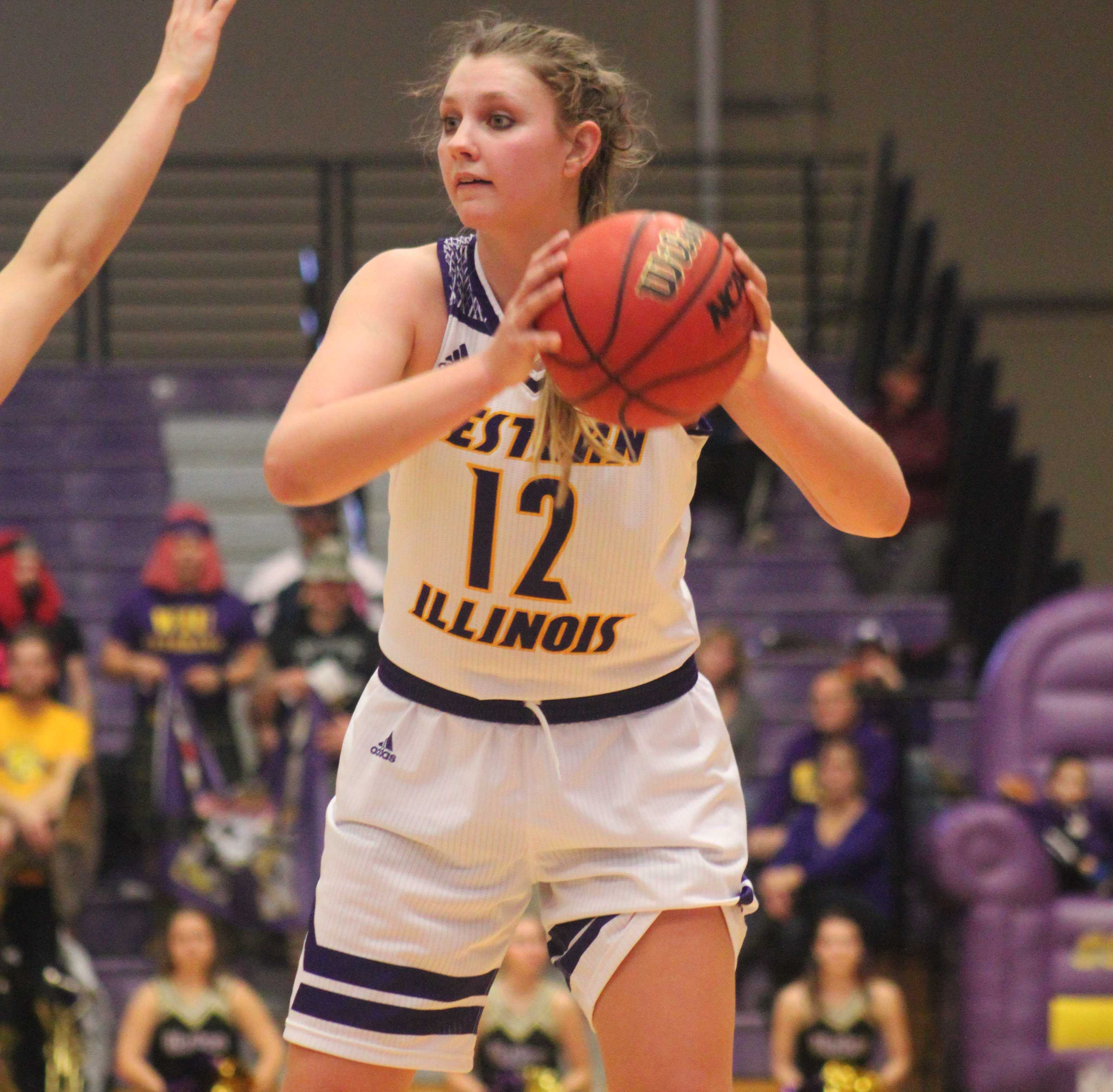 Morgan Blumer set a program record for 3-pointers in a single season on Saturday and scored 22 points