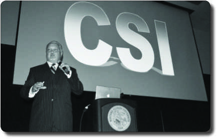'CSI' expert speaks to the living