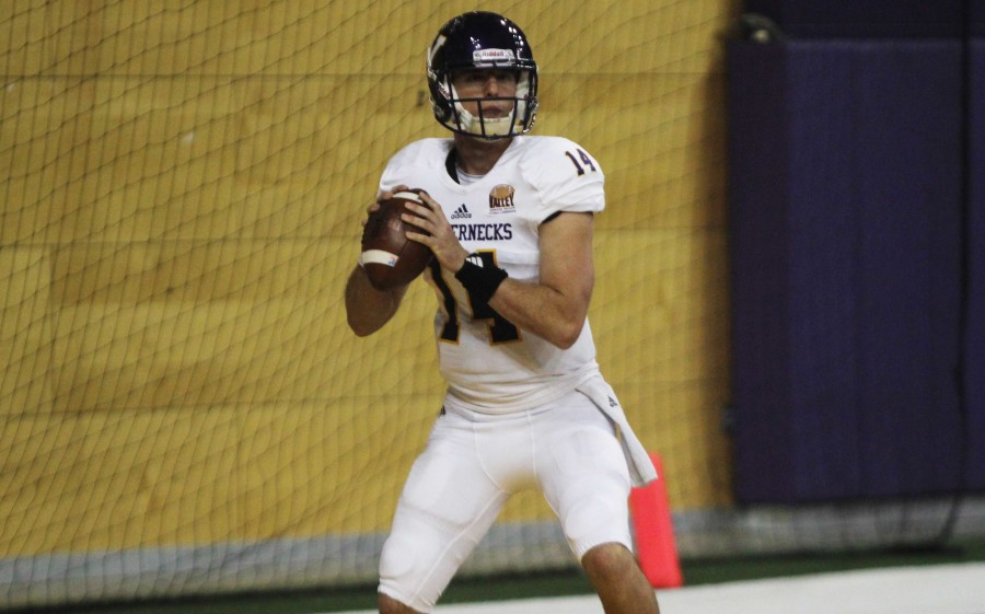 Quarterback+Trenton+Norvell+says+playing+at+Illinois+State+will+make+for+a+difficult+road+environment.