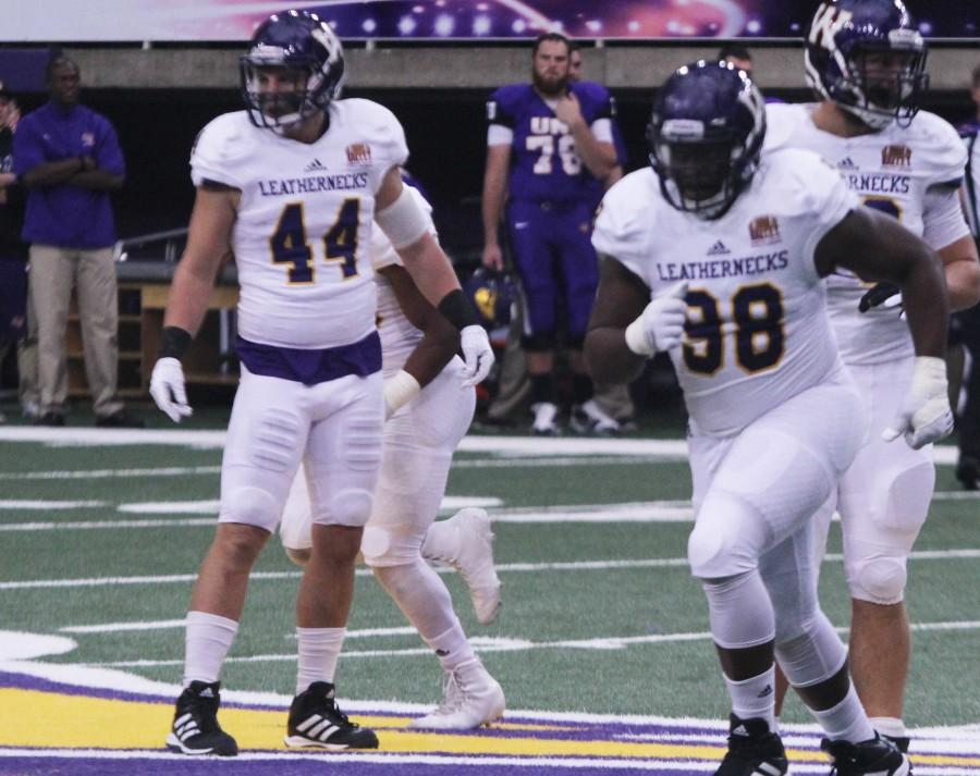 Brett Taylor (44) was named MVFC Defensive Player of the Week.