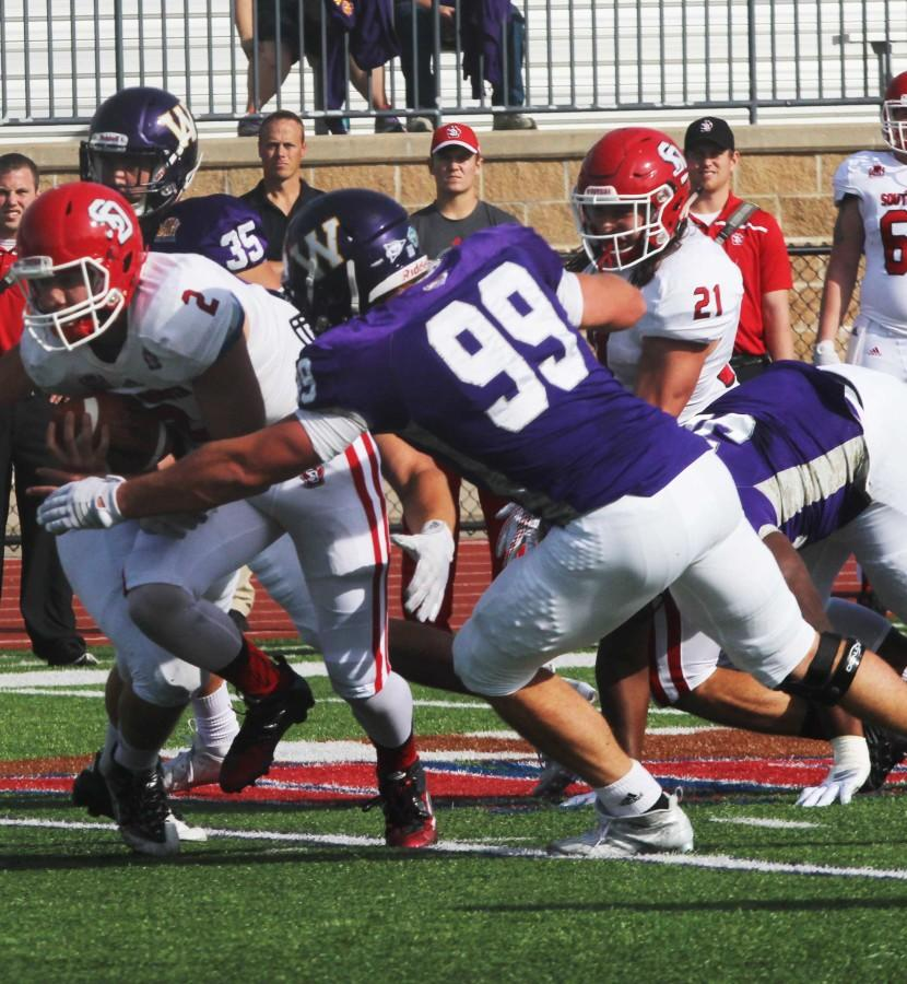 Eddy Holtschlag (99) hopes to make a statement with a win over ISU.