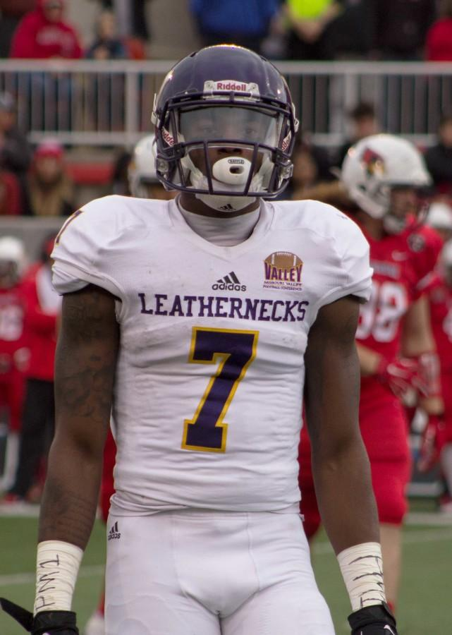 Junior Lance Lenoir became the all-time receptions leader for the Leathernecks (161) against Illinois State.