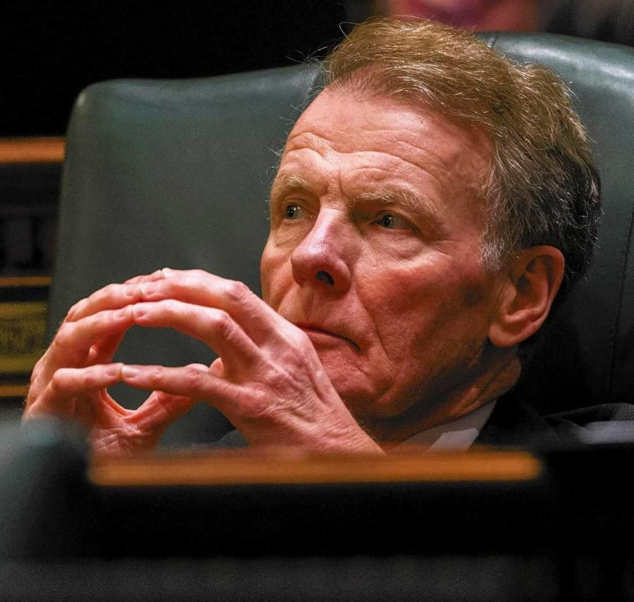 The+16-week+Illinois+budget+stalemate++is+a+result+of+disagreements+between+Speaker+Mike+Madigan+%28pictured%0Aabove%29+and+Gov.+Bruce+Rauner