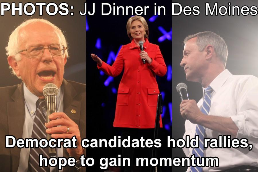The three Democrat candidates for President descend upon Des Moines Iowa for the important Jefferson-Jackson Dinner. The dinner is often seen as a turning point in elections. View photos from the dinner. PHOTO ESSAY