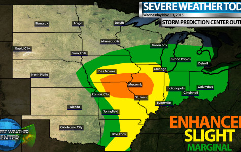 Forecasters call for severe weather