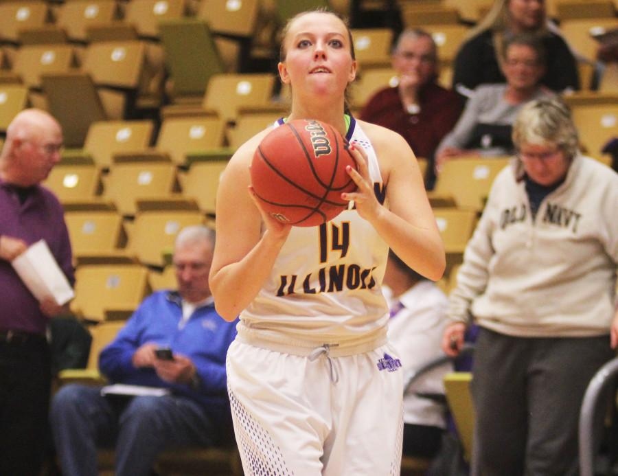 Michelle Maher broke the all-time record at Western for 3-pointers last season, reaching 164 in her career.