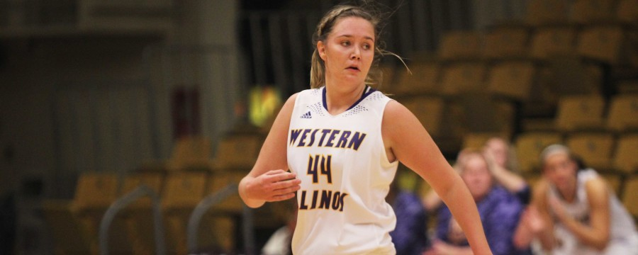 Sophie Reichelt (44) records a double-double, scoring 13 points and grabbing 12 rebounds. Michelle Farrow (22) led the way for the Leathernecks, scoring 16 points and Emily Clemens (15) scored 15 points and had seven steals in a victory over the William Woods Owls on Friday.