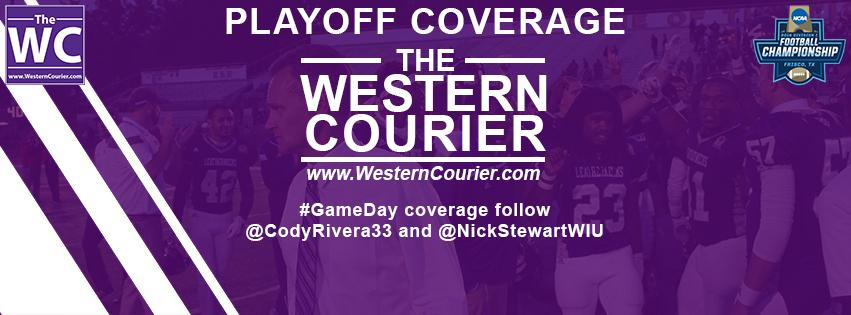 The+Western+Courier+playoff+coverage+begins+this+Saturday.+Follow+our+main+accounts%2C+%40WesternCourier+and+%40WCourierSports+for+coverage%2C+and+editors+%40CodyRivera33+and+%40NickStewartWIU+for+live+%23GameDay+updates.