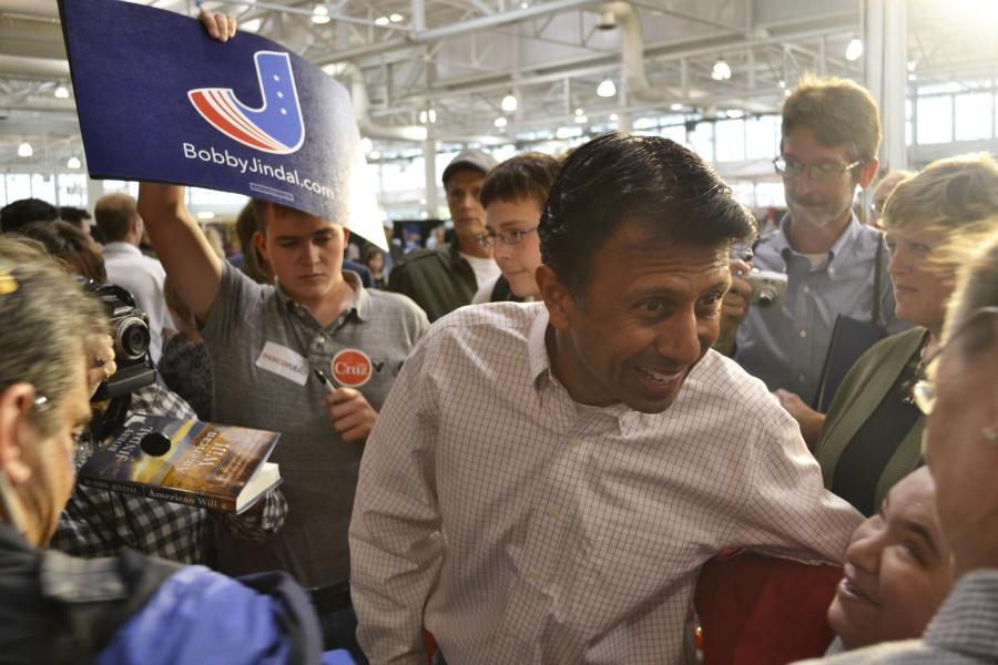 Louisiana+Gov.+Bobby+Jindal+greets+supporters+during+the+Republican+Party+of+Iowa+Growth+and+Opportunity+Day+in+Des+Moines%2C+Iowa+back+in+October.+