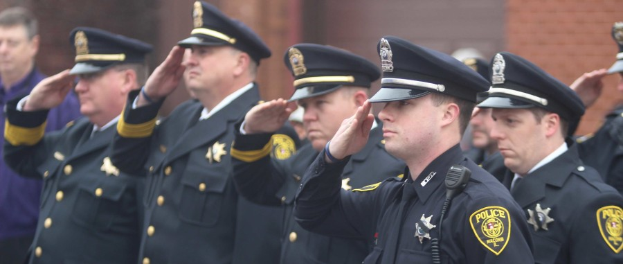 The Macomb Police Department honors four fallen officers on Monday, Nov. 30 with a wreath laying ceremony to commemorate the 85th anniversary of the murder of three officers.