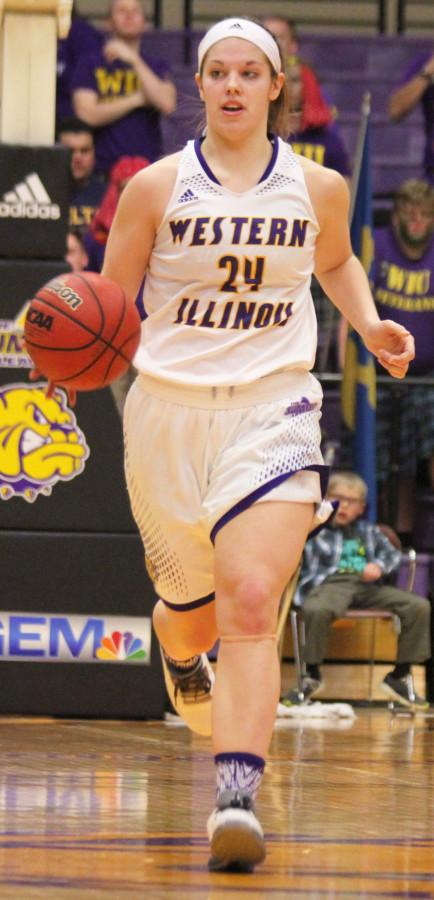 Freshman Taylor Higginbotham makes her 11th career start in Western's loss to Oral Roberts.