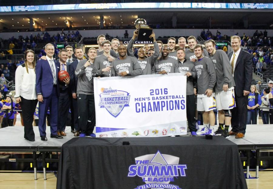 The South Dakota State men's basketball team punched their ticket to the NCAA Tournament after defeating the North Dakota State Bison, 67-59.