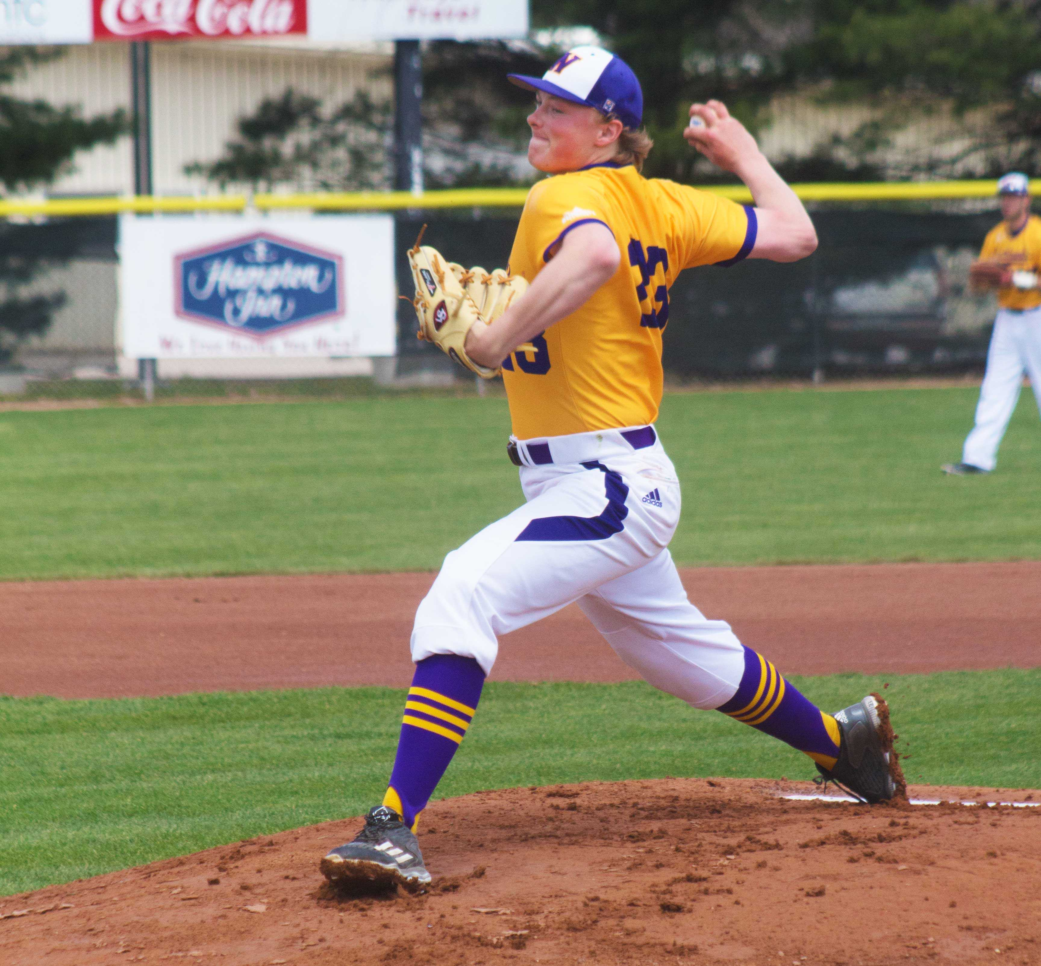 Freshman Ian Koch throws a complete game in Western's Friday victory at South Dakota State.
