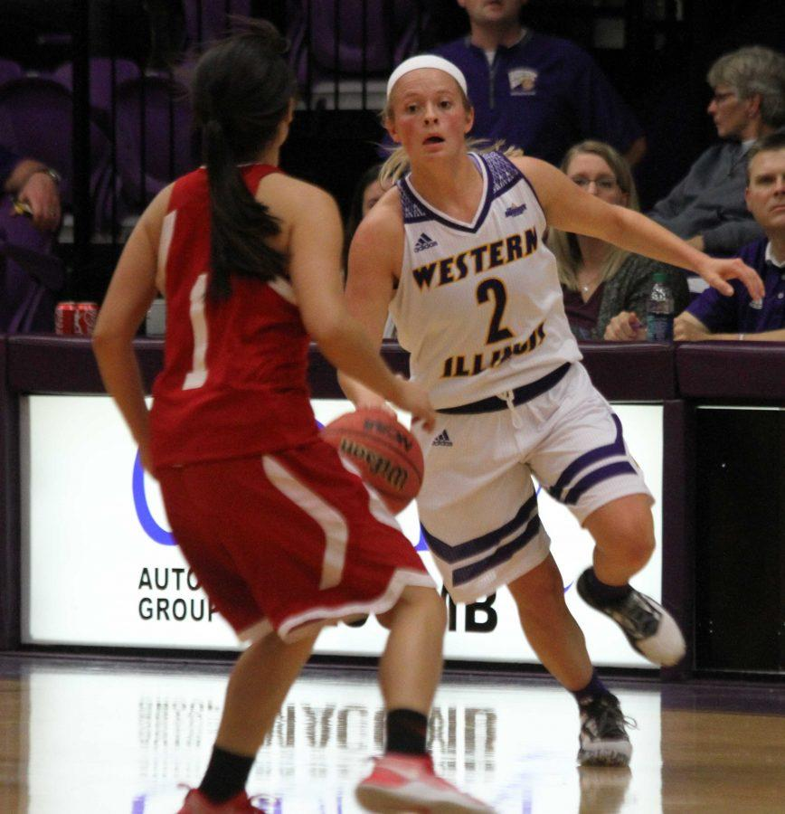 Emily Clemens came up clutch in a 76-74 win over SIUE, sinking a pair of free throws with three seconds left