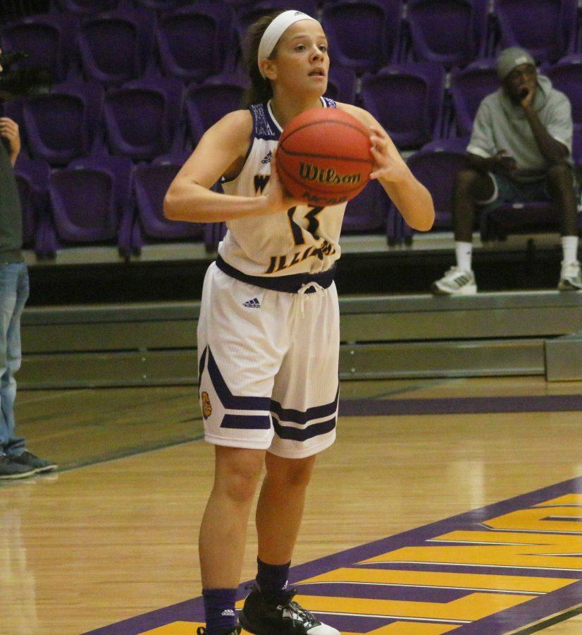 Freshman Olivia Kauffman led the Leathernecks with 20 points in just her second college game.