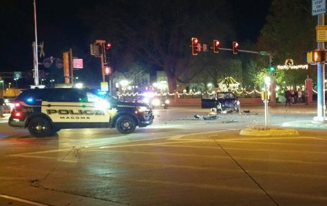 Vehicles collide outside of Chandler Park