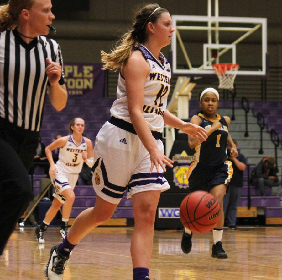 Junior guard Morgan Blumer recorded 18 points and nine rebounds in Western's blowout win Wednesday.