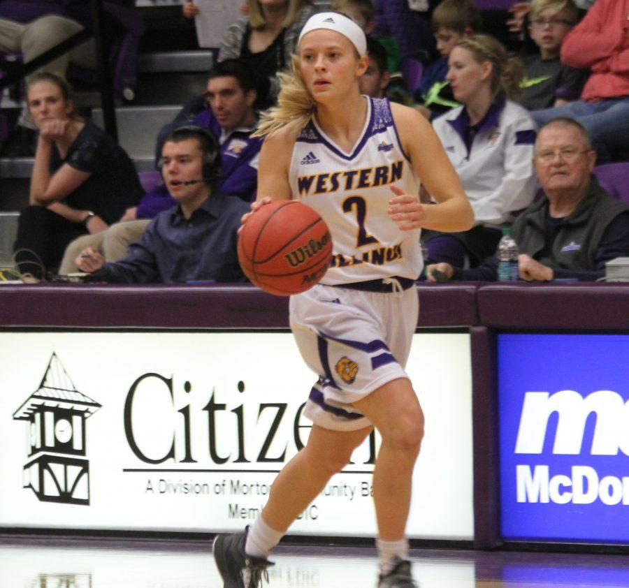 Sophomore Emily Clemens beat the buzzer twice and led the Leathernecks in scoring in Saturday's loss.