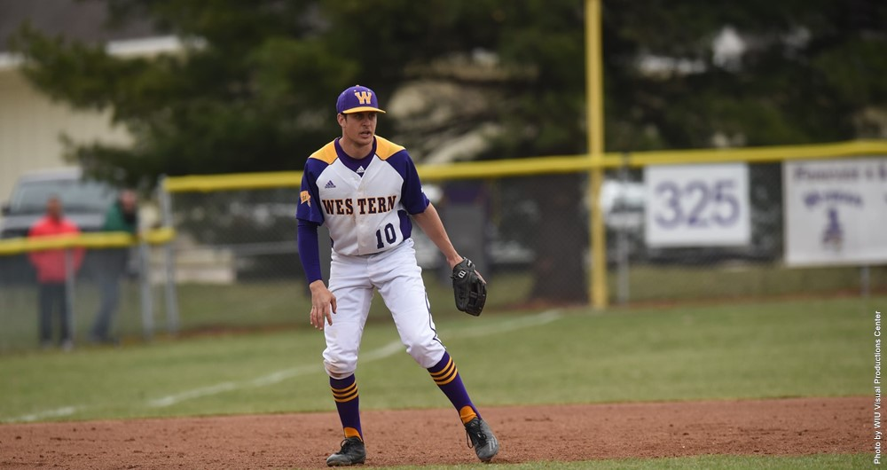 junior transfer Mitch Ellis patrol the grounds of Alfred D. Boyer Stadium in Macomb.