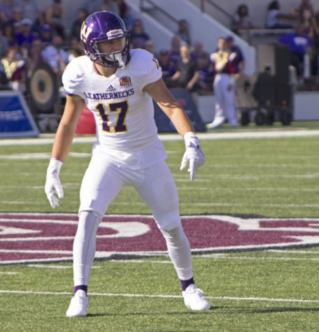 Jaelon Acklin settling in his new role for the Leathernecks