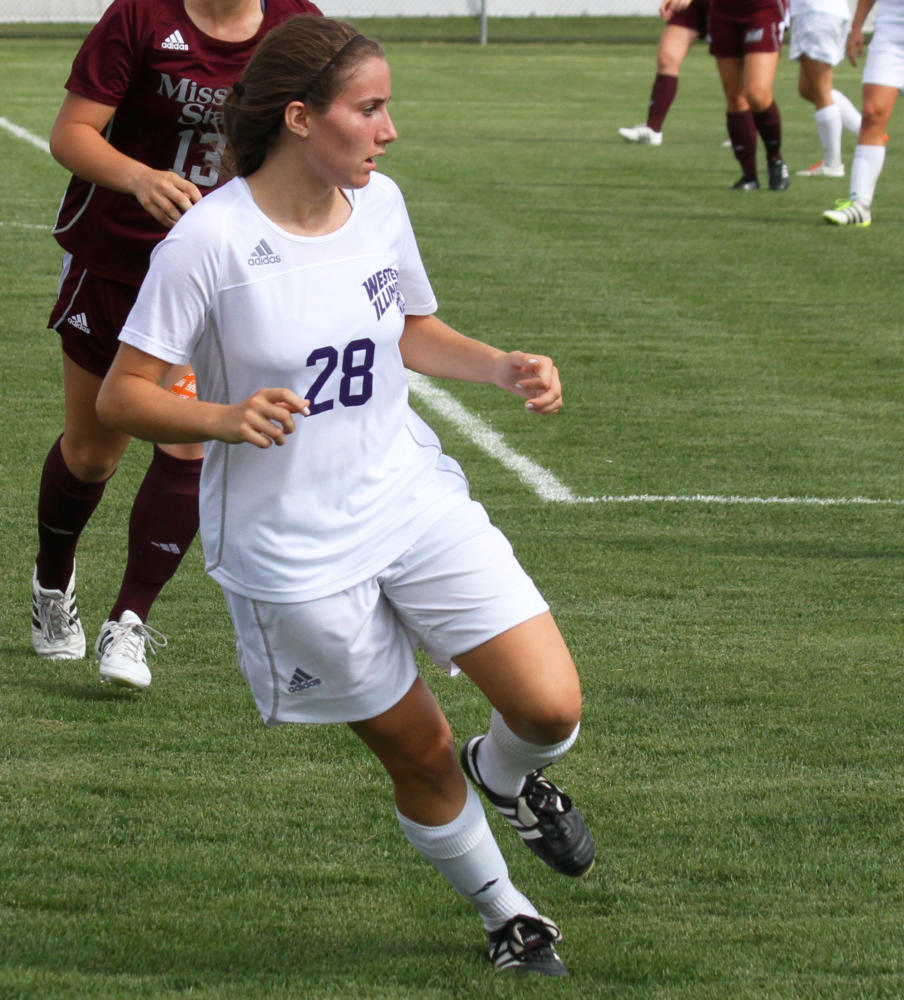 Bianca Romany looks for a pass against Missouri State.