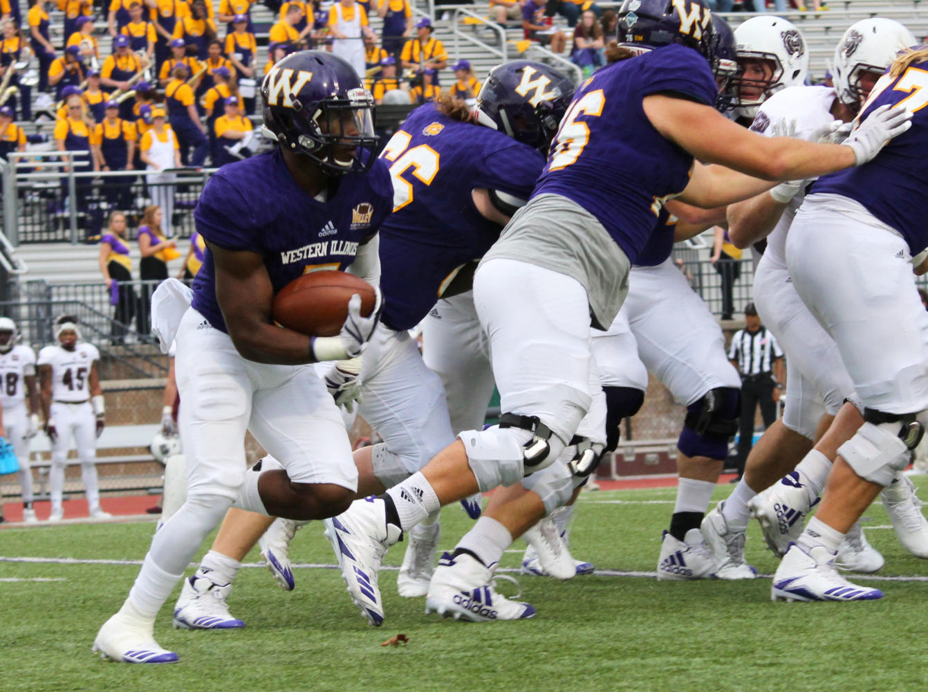 Steve McShane bounces a carry to the right side during a win against Missouri State Saturday afternoon. McShane finished the day with 155 yards rushing and a touchdown.