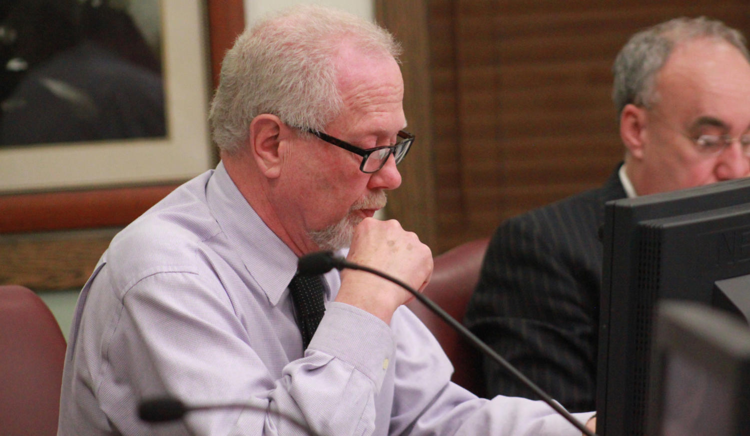 City Administrator Dean Torreson informs the council  in Monday's meeting that pensions contribute cloes to $1 million which is extremely detrimental to the city's budget and deficit reduction plan.