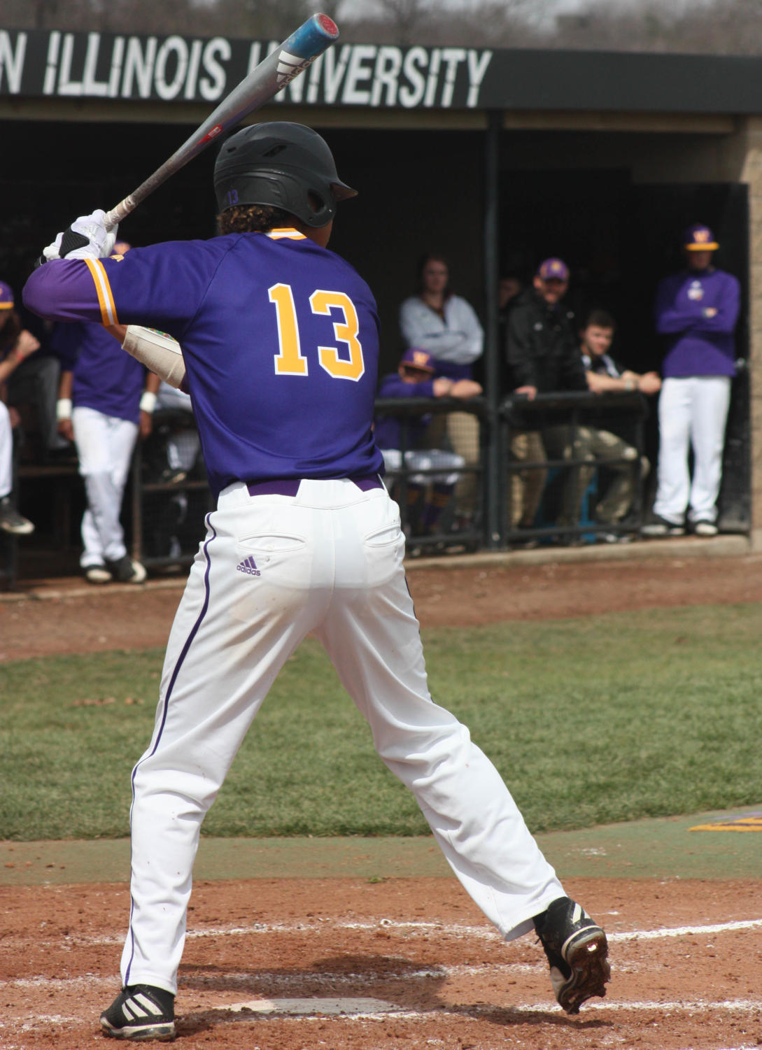 Drue Galassi at bat for the Leathernecks.