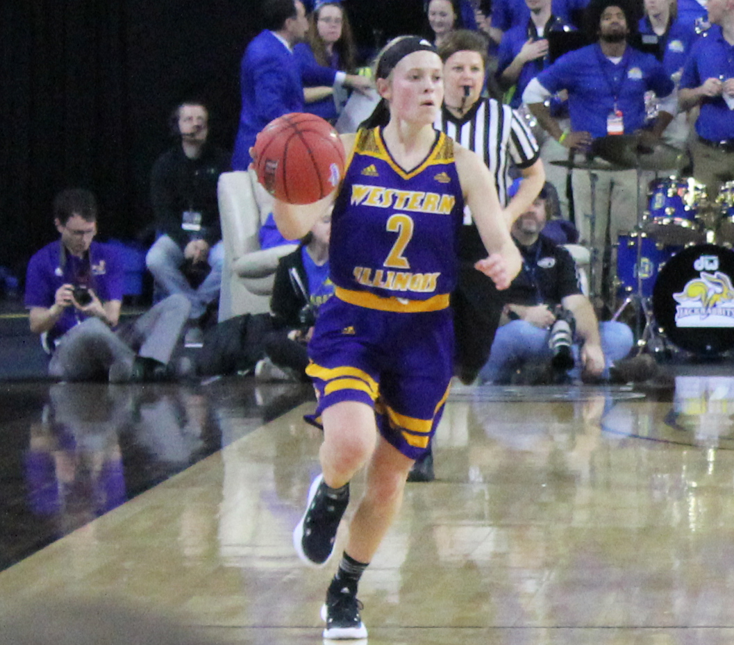 Emily Clemens darts up the court in a semifinals loss to South Dakota State.