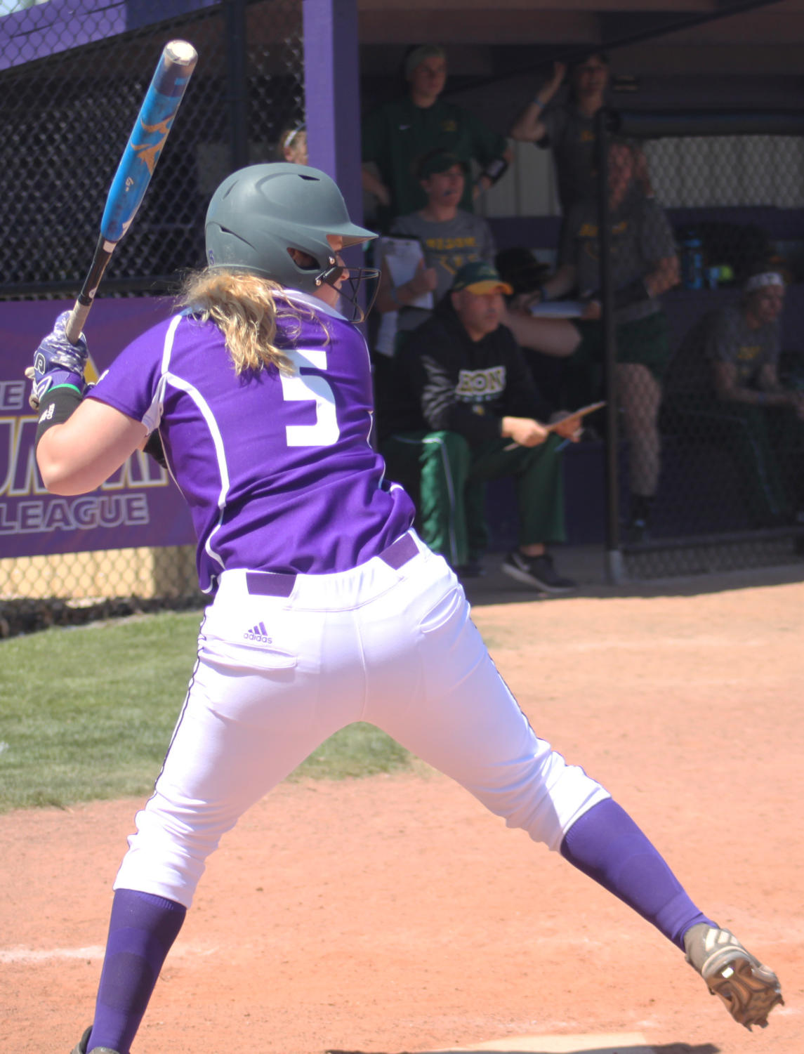 Haley Duwa winds up for the swing.
