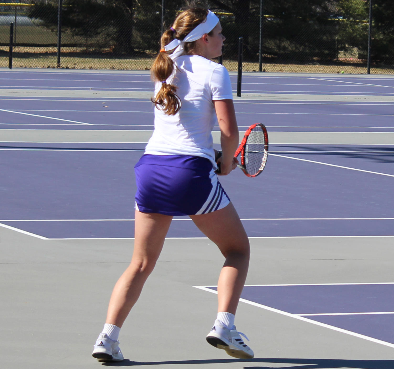 Ana Bjelica sets up to recieve a serve at a home match last season.