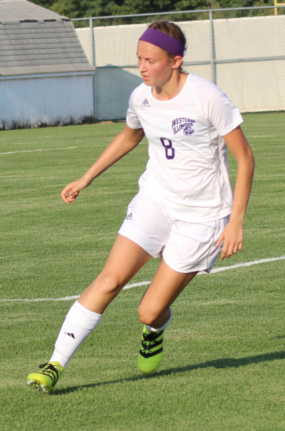 Emily Bollman prepares to settle the ball.