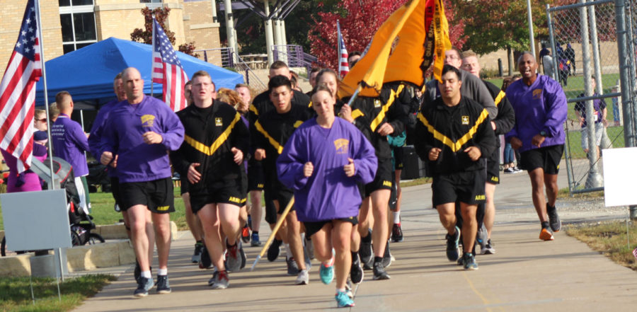 Students, faculty, staff and members of the communty gather at Western to run/walk in honor of our fallen soldiers.