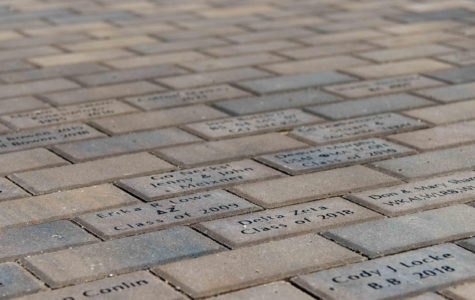 Alumni easily find bricks in new Alumni Plaza