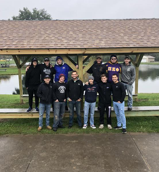 12 members of Pi Kappa Phi fraternity at Western Illinois Univeristy traveled to Des Moines, Iowa to build accessible amenities for people with disabilities.