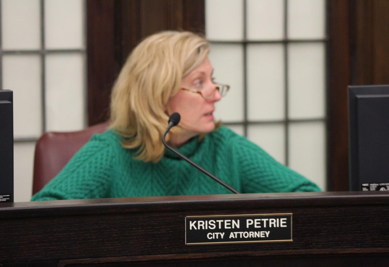 Alderman Don Wynn led Monday's meeting where City Attorney Kristen Petrie and City Administrator Dean Torreson discussed the budget and liquor licenses.