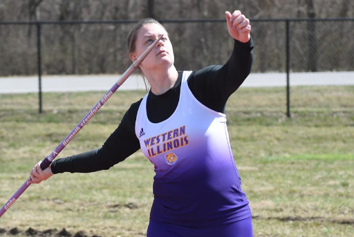 Allison Richter takes first place in javelin.