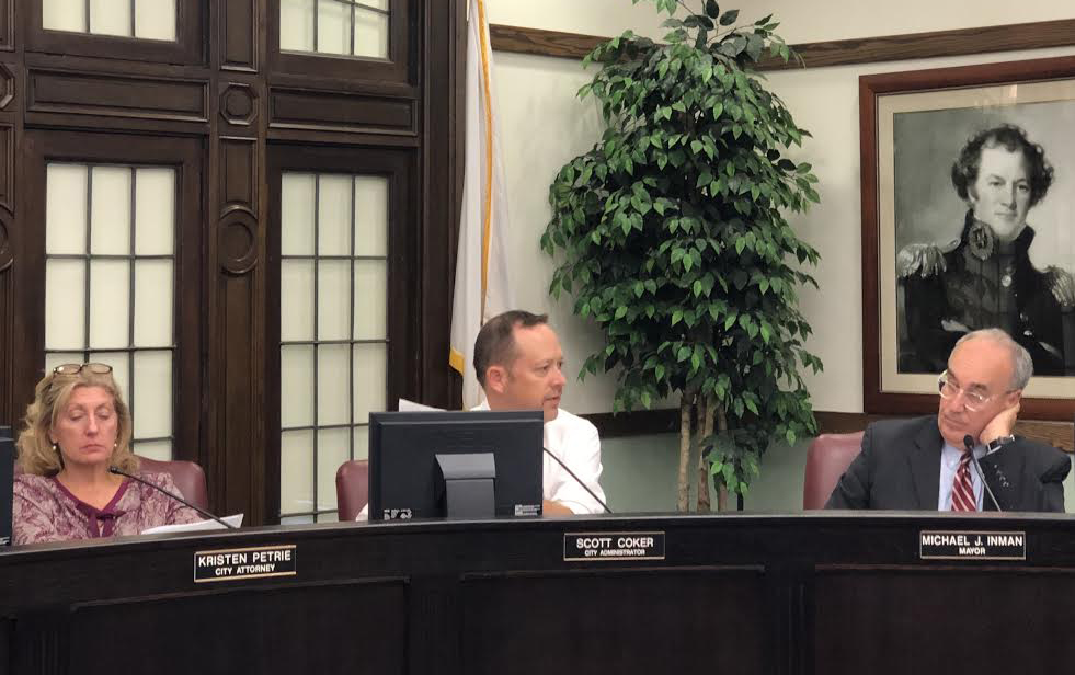 City Administrator Scott Coker speaks to City Council about upcoming projects.