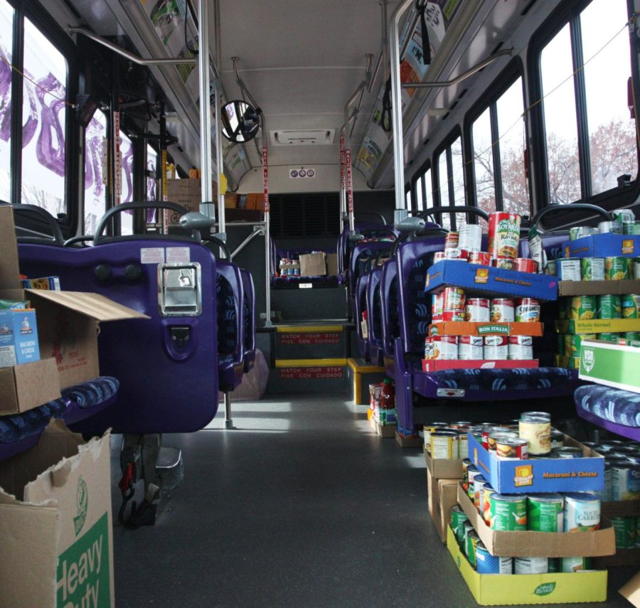 Sodexo+and+community+members+Stuff+the+Bus+to+give+back+to+various+food+pantries+around+Macomb