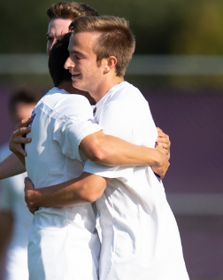 Ryan+DeBois+celebrates+after+scoring+a+goal.