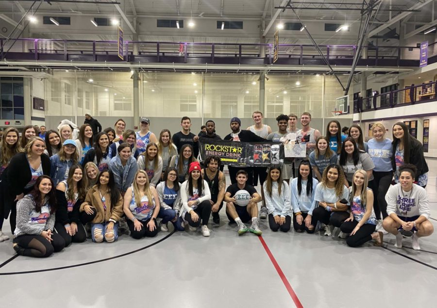 The+women+of+Sigma+Sigma+Sigma+sorority+hosted+a+fundraising+event+in+efforts+to+raise+money+for+their+sister+Destinee+Jones.+Members+of+Pi+Kappa+Phi%2C+Delta+Tau+Delta%2C+Delta+Upsilon%2C+Sigma+Alpha+Epsilon%2C+Private+Club+and+Alpha+Gamma+Rho+participated+in+the+organizations+three-on-three+basketball+tournament.+Tri+Sigma+raised+%245%2C168+over+the+course+of+their+fundraising+initiative.